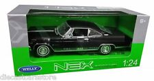WELLY 1965 CHEVROLET IMPALA SS 396  BLACK1/24 DIECAST MODEL CAR  22417W-BK