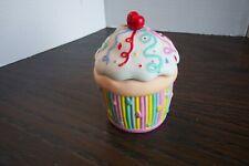 Partylite Ceramic Colorful Cupcake Votive / Tealight Holder See Pics