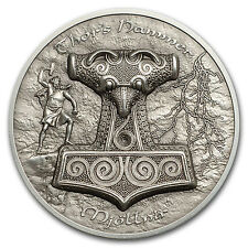 2017 Cook Islands 2 oz Silver UH Relief Thor's Hammer Mjöllnir - SKU #116370