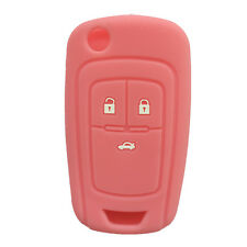 Pink Silicone Flip Key FOB keyless cover key case fit for Chevrolet Cruze 3 BTN
