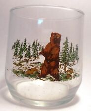 Grizzly Bear Collectible Libbey 14oz Glass from Sunoco Wildlife Series
