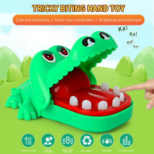 Toys For Children Crocodile Biting Finger Funny Keychain Portable Kids party New