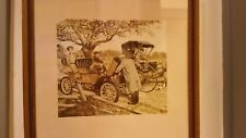 VINTAGE ROBERT THOM HORSE DRAWN CARRIAGE 1906 HORSELESS CARRIAGE CAR PRINT