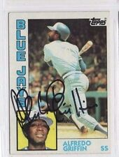 Alfredo Griffin 1984 Topps signed auto autographed card Blue Jays