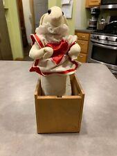 JAX of MAINE Jack in the Box White Rabbit Red Satin Heart Alice in Wonderland