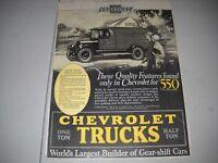 Vintage Chevrolet Truck Advertisement  July 1926