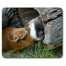Computer Mouse Mat - Cute Guinea Pig Couple Pet Animal Office Gift #8247