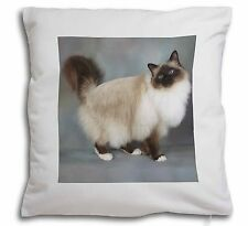 Gorgeous Birman Cat Soft Velvet Feel Cushion Cover With Inner Pillow, AC-30-CPW