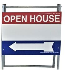 Ezee Post Open House Sign Kit Metal A-Frame 3Pack Red-White-Blue