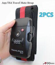 2pcs A99 TSA Travel Luggage Digital Dial Combination Safe Suitcase Lock Strap