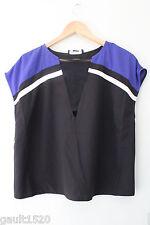 NWT STYLESTALKER Australian Designer Dopeness Top Sexy Black Purple Mesh XS 0 6