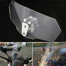 Motorcycle Adjustable Clip On Windshield Extension Spoiler Windscreen Deflector