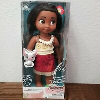"Disney Animators' Collection Moana Doll in Box Toddler 15"" with Pua Pig"