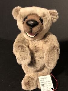 "OOAK Bear Laura Unrau Bam Bam French Velour 10"" Born Jan 2006"
