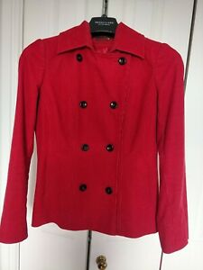Ladies Red Cordoroy Jacket From Per Una Size 8