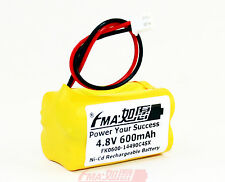 2Pcs Ni-Cd AA 4.8V 600mAh Battery for Emergency Light Exit  Entrance Sign w/XHR