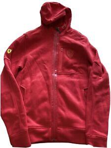 PUMA Men's Red Ferrari Hoodie Size Medium