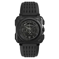 New Bell & Ross BR-X1 Phantom Black PVD Titanium 45 mm Watch BRX1-PHANTOM/SRB