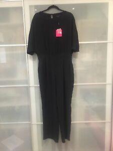 Wayne Cooper Jumpsuit Black Size 12 New RRP $179