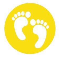 4 Left /& 4 Right Social Distancing Black Pack of 8 Floor Signalling Feet Sign Vinyl Stickers