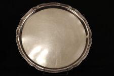 Grand plat, plateau rond godronné en métal argenté / round service plate, Silver