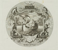 PROBST(*1721), Emblem, Sorgenvoller König Midas mit Nymphe, um 1750, KSt