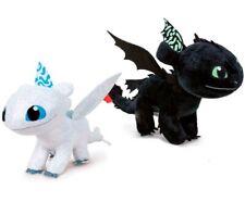 Pack 2 Peluches como Entrenar a tu Dragón 3, Furia Luminosa y Desdentado 40cm