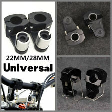 "Motorcycle HandleBar Aluminum 7/8"" 22mm Handle Fat Bar Mount Clamps Riser"