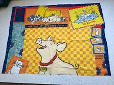 Babe Pig Fly Dog Ferdinand Duck Mice Chickens remnant craft material fabric