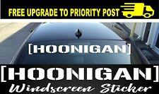 Hoonigan Car Sticker 1 Metre Windscreen jdm Decal