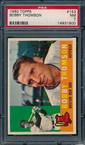 1960 Topps Bobby Thomson #153 PSA 7 NM