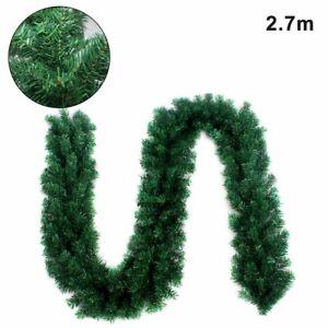 2.75m Green Colorado Garland Artificial Pine Wreath Swag Green Xmas Decor QZ