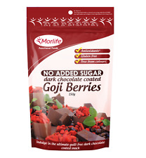 Morlife Dark Chocolate Goji Berries 125g | Sugar Free |  Antioxidant rich