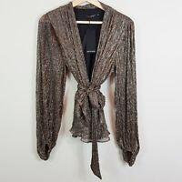 PORTMANS Womens Size 14 Bronze After Midnight Wrap Top NEW + TAGS