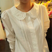 Lolita French Toast White Long Sleeve Top 3Layers Peter Pan Collar Blouse Shirt