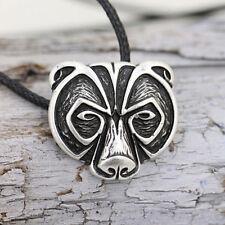 Bear Head Amulet Pendant Necklace Norse Viking Necklace Talisman Jewelry 3c