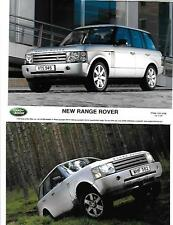 GROUP OF 4 'NEW' RANGE ROVER PRESS PHOTO 'BROCHURE RELATED' FOR 2001 2002