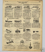 1922 PAPER AD Gopher Trap Nox All Macabee OK Cinch Newhouse Victor Game Giant