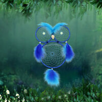 Blue Owl Dream Catcher Creative Network Ornaments Gifts Wall Hanging Home Decors