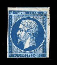 FRANCE - N°14A 20c EMPIRE ND Type 1 OBLITÉRÉ (10g) obl. roulette pointillés