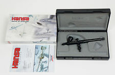 Hansa 281 Black 0.2mm automatic airbrush gravity feed by Harder & Steenbeck