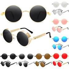Retro 2020 Polarized Steampunk Sunglasses Mens Hippie Round UV400 Sun Glasses