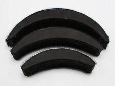 3 Sets of 3pcs Velcro Grip Hair Bun Maker Styling Tool Princess Hair Pads Tool