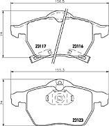 Mintex MDB2317 front Brake Pad Set for Vauxhall Astra,Zafira,Saab 9-3 98 & 9-5