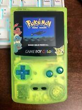 Nintendo Pokemon Neon Green Game Boy Color With IPS Screen