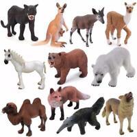 Simulation Wild/Zoo/Farm Animal Tree Model Figures for Kid Educational Toy Gift