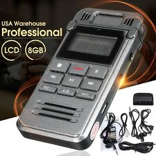 8GB Rechargeable LCD Digital Audio/Sound/Voice Recorder Dictaphone MP3 Player US