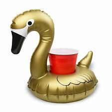 GoFloats Gold Floating Swan Drink Holders (3 Pack), Float Your Drinks in Style