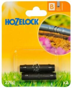 2768 Hozelock Straight in-Line Hose Connector 13mm (Pack of 2)