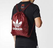 adidas Originals CLASSIC TREFOIL DRAWSTRING GYM SACK  BEACH BAG  Burgundy  LAST1